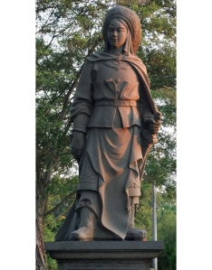 Sculpture of Hua Mulan in Chinese Garden, Singapore