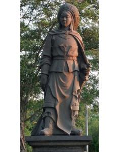 Sculpture of Hua Mulan in Chinese Garden, Singapore