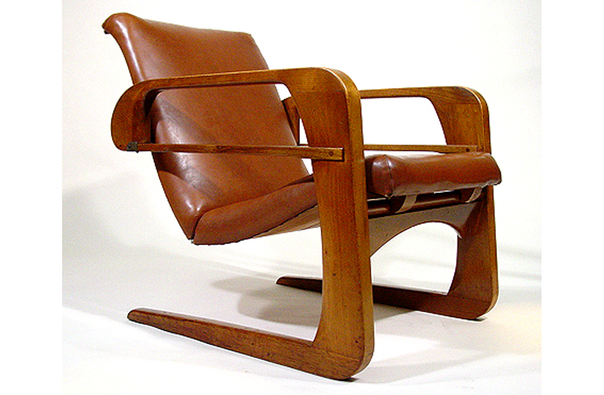 Attractive 1930s Art Deco Kem Weber Airline Chairs