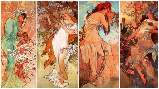 1A Alphonse Mucha - Seasons
