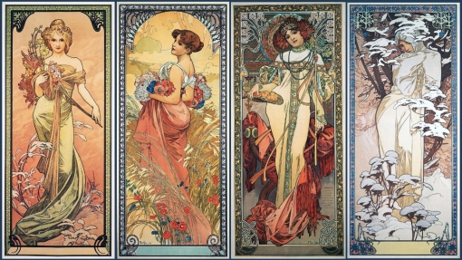 3Alphonse Mucha The Four Seasons