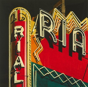 10.041 1985 Rialto hand-coloured lithograph 45.7 x 45.7 cm