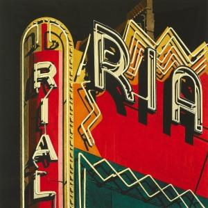 10.041 1985 Rialto hand-coloured lithograph 45.7 x 45.7 cm
