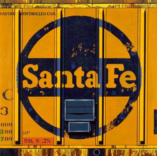 12.052 1988 Santa Fe woodcut on paper 77.2 x 77.8 cm