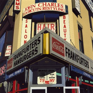 14.061 1989 Frankfurters-Hamburgers, from the Cottingham Suite lithograph 26.7 x 26.7 cm