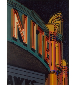 15.063 1991 Nite woodcut on paper 127 x 92.7 cm