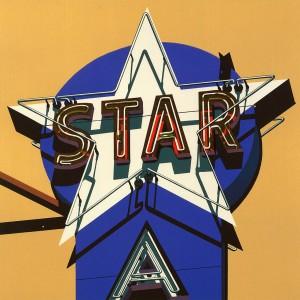 6.023 1985 Star lithograph 54.9 x 53.9 cm