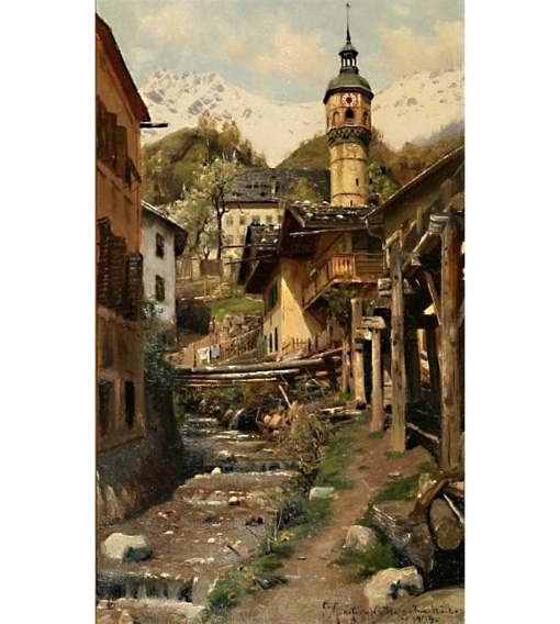 11Peder_M_nsted_Town_scene_from_Innsbruck1909