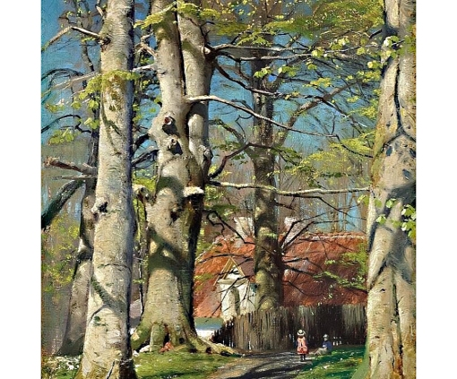 2Peder_M_nsted_View_of_Fredensborg_with_children_on_a_path_in_the_woods.n