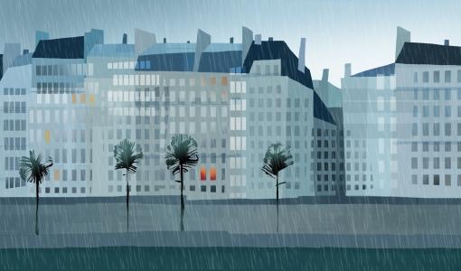 paris study rain