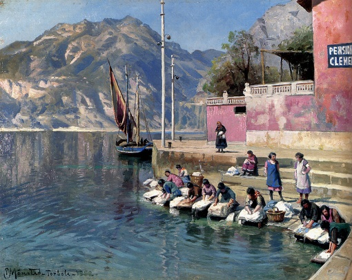 Peder_Mork_Monsted_Woman_washing_clothes