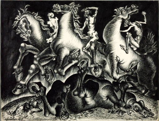 The Four Horsemen of the Apocalypse 1937 by André Fougeron 1913-1998